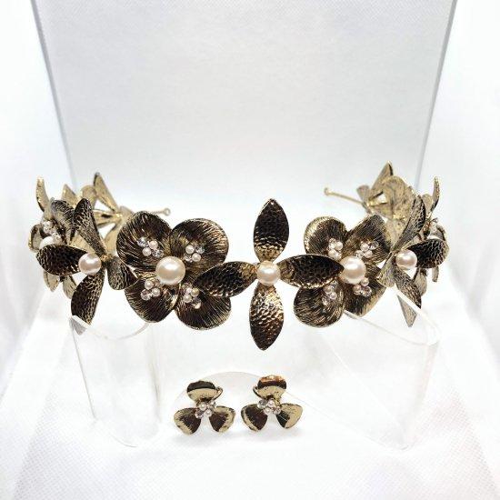 花冠 フローラヘッドドレス + イヤリングセット 4