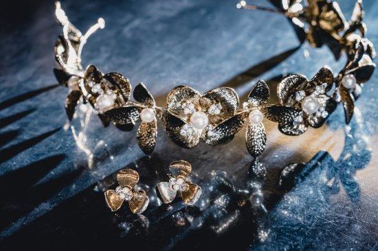 花冠 フローラヘッドドレス + イヤリングセット 5
