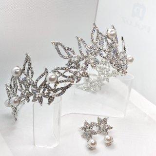 Ariel Series � Head dress + Earring set | アリエルシリーズ�ヘッドドレス + イヤリングorピアスセット