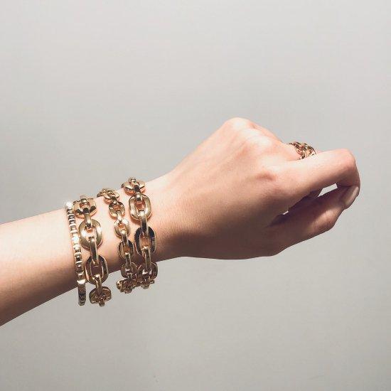 ダンクルチェーン バングルブレスレット -GOLD-<Lsize/Ssize>|Dancle Chain Bancle Bracelet | 男女兼用フリーサイズ 3