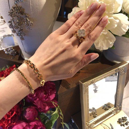 ダンクルチェーン バングルブレスレット -GOLD-<Lsize/Ssize>|Dancle Chain Bancle Bracelet | 男女兼用フリーサイズ 4