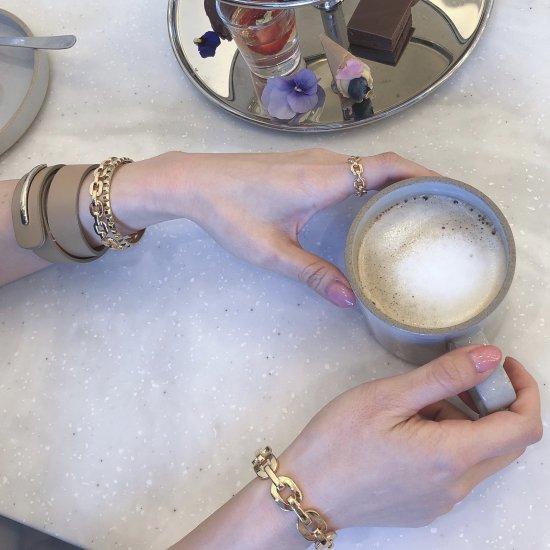 ダンクルチェーン バングルブレスレット -GOLD-<Lsize/Ssize>|Dancle Chain Bancle Bracelet | 男女兼用フリーサイズ 7