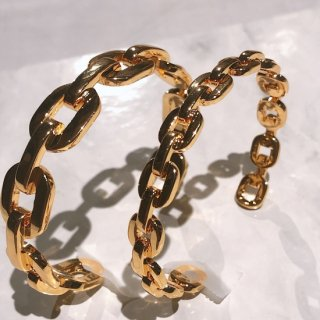 【即納】ダンクルチェーン バングルブレスレット -GOLD-<Lsize/Ssize>|Dancle Chain Bancle Bracelet | 男女兼用フリーサイズ