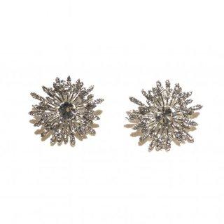 ダリア スダッド スワロフスキーイヤリング | Dahlia Stud Swarovski Crystal Earrings