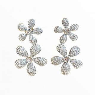 —Pierces&Earrings ジャスミンパヴェ ダブルフラワー