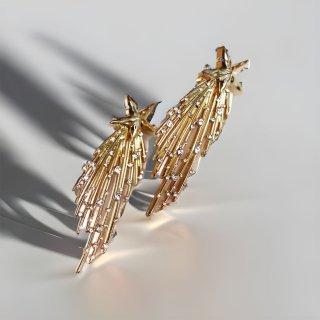 流れ星コレクション ゴールドピアス・イヤリング |  Comet Star Gold Earrings <Gold>