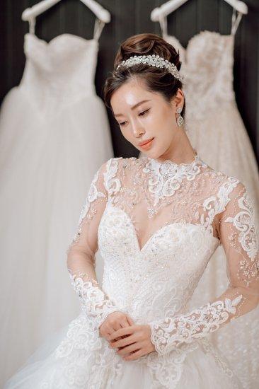 スノーホワイト ヘッドドレス 【A】 + イヤリングセット 2