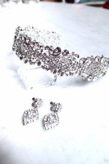 —Headdress  スノーホワイト ヘッドドレス 【A】 + イヤリングセット