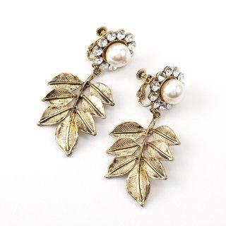 —Pierces&Earrings 【1点限定】エデン アンティークゴールドイヤリング