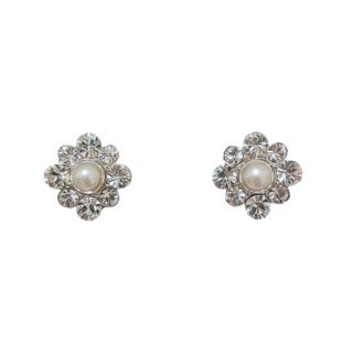 —Pierces&Earrings 【限定1点】パールラウンド クリスタルピアス