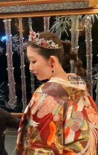 ブログ 【豪華絢爛】オーダーメイド 色打掛×カラーストーンヘッドドレス | 日本唯一コーディネート
