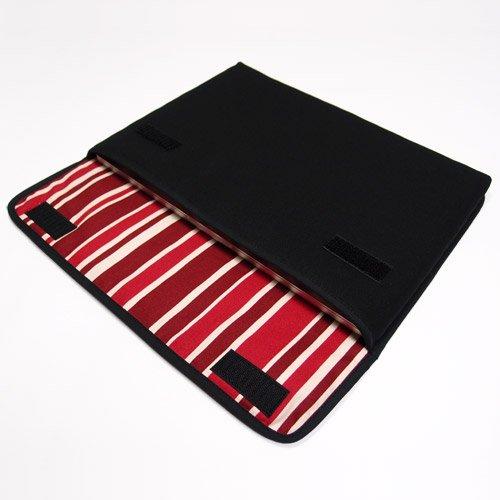 MacBook Pro 13インチケース:FILO(ブラック・ボルドーストライプ)