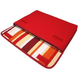 MacBook Pro 13インチケース:FILO(レッド・オレンジストライプ)