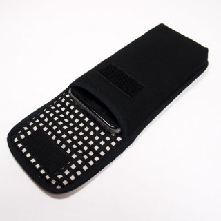 iPhone SEケース --タテ型(ブラック・グラフチェック)