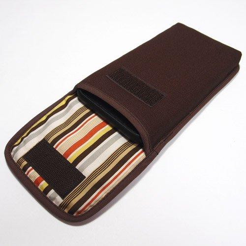 iPhone SEケース --タテ型(ココア)--ベルトなし