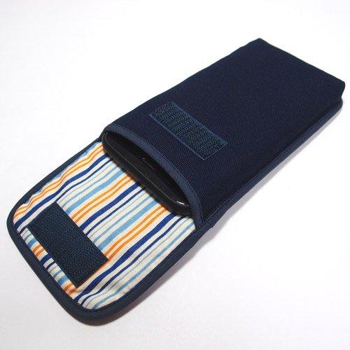 iPhone SEケース --タテ型(ネイビー)--ベルトなし