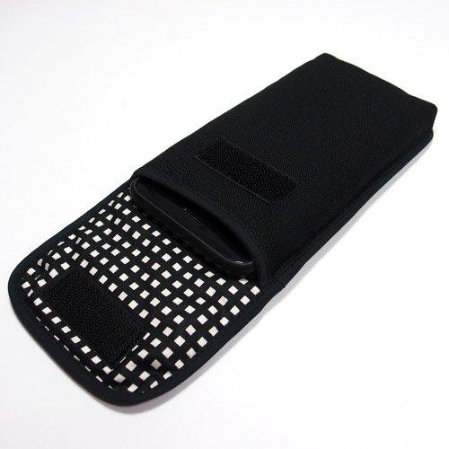 iPhone 8 Plusケース /iPhone Plus 7ケース(ブラック・グラフチェック)--ベルトなし