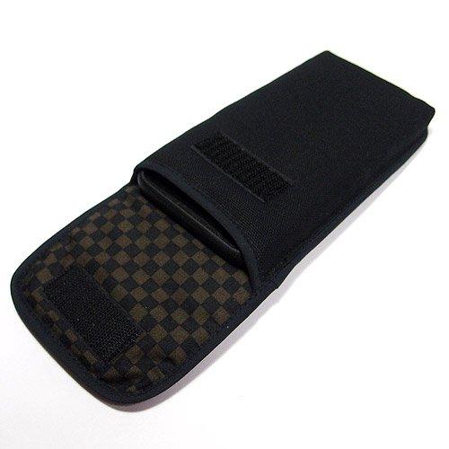 iPhone 8 Plusケース /iPhone Plus 7ケース(ブラック・ブラウンチェック)--ベルトなし