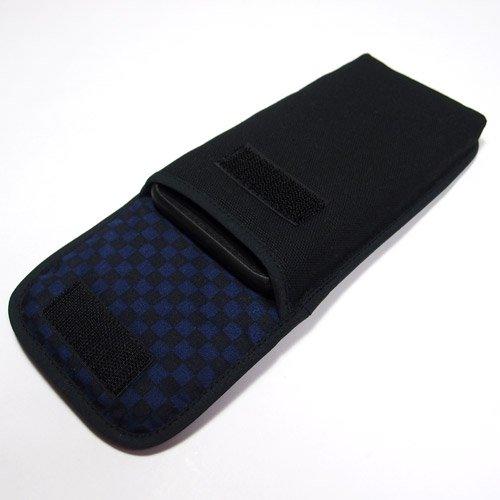 iPhone 8 Plusケース /iPhone Plus 7ケース(ブラック・ネイビーチェック)--ベルトなし