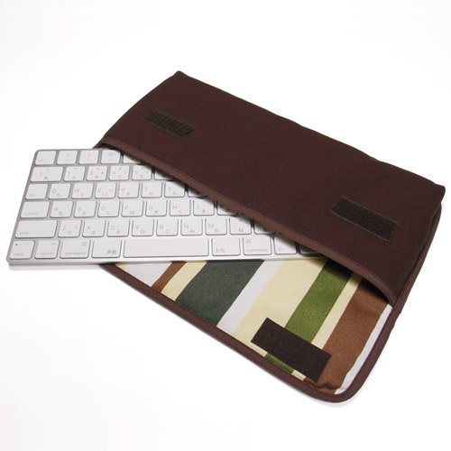 Apple Magicキーボードケース(ココア・カーキストライプ)