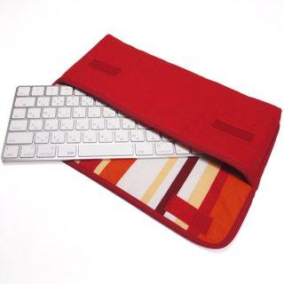 Apple Magicキーボードケース(レッド・オレンジストライプ)