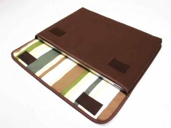 Surface Laptop3 ケース / Surface Laptop2 ケース「FILO」13.5インチ(ココア・カーキストライプ)