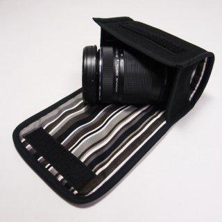 デジカメ レンズケース(ブラック・アルバグレイ)
