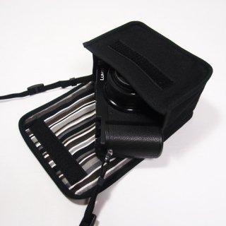 LUMIX GX7 Mark IIIケース(ブラック・アルバグレイ) --標準ズームレンズキット用