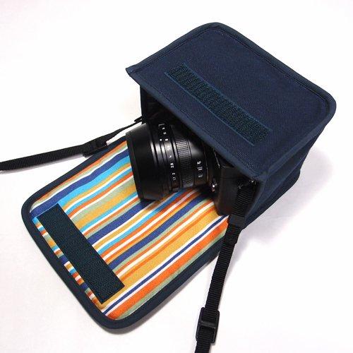 LUMIX GX7 Mark IIIケース(ネイビー)--単焦点ライカDGレンズ+レンズフード用--カラビナ付