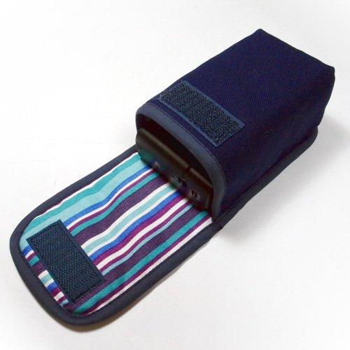 カメラケース デジカメ サイバーショットDSC-RX100M5/M4/M3ケース --タテ型(ネイビー・アズーリ)