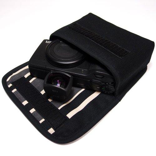 リコーGR2ケース /GRケース(ブラック・カーボンストライプ)--外部ファインダー用
