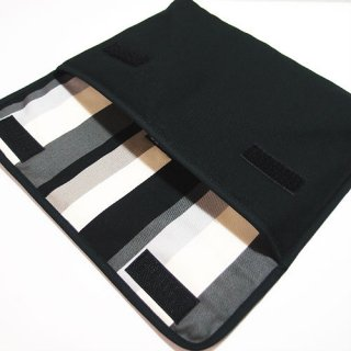 iPad Airケース・Lサイズ「FILO」(ブラック・グレーストライプ)for 第3世代 2019年モデル