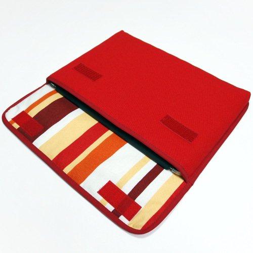 iPad Airケース・Lサイズ「FILO」(レッド・オレンジストライプ)for 第3世代 2019年モデル