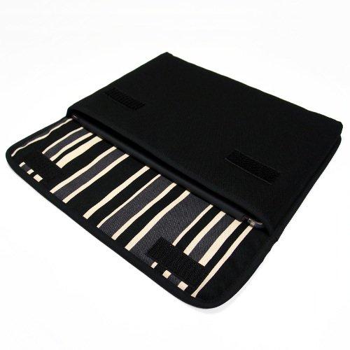 iPad Airケース・Lサイズ「FILO」(ブラック・カーボンストライプ)for 第3世代 2019年モデル