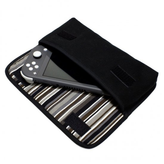 Nintendo Switch Liteケース(ブラック・アルバグレイ)