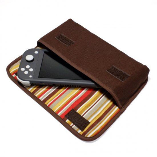 Nintendo Switch Liteケース(ココア・シエナオレンジ)