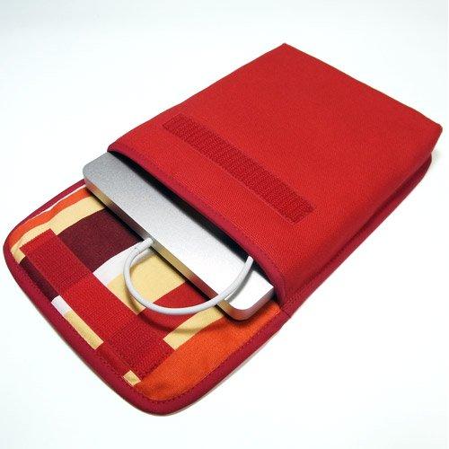 Apple USB スーパードライブケース(レッド・オレンジストライプ)