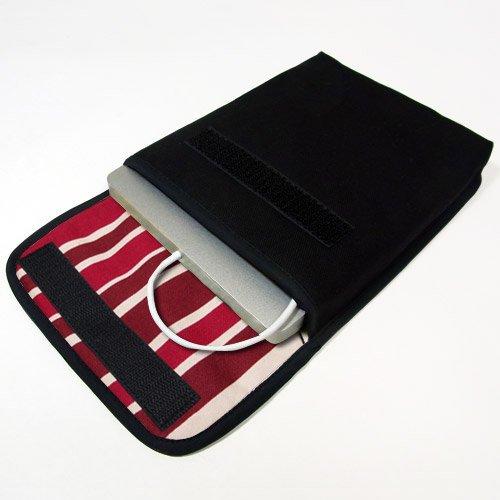 Apple USB スーパードライブケース(ブラック・ボルドーストライプ)