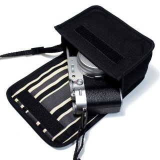 FUJIFILM X100Vケース/ X100Fケース(ブラック・カーボンストライプ)