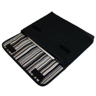 11インチ iPad Proケース・第4世代 iPad Airケース・Lサイズ「FILO」(ブラック・アルバグレイ)