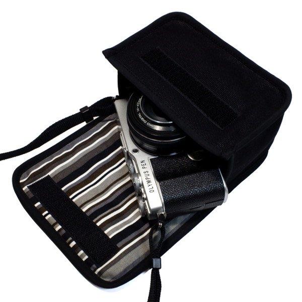 オリンパスペン E-P7ケース(ブラック・アルバグレイ)14-42mm EZレンズキット用
