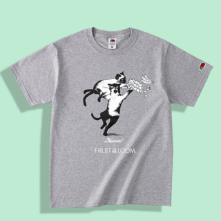 <img class='new_mark_img1' src='https://img.shop-pro.jp/img/new/icons15.gif' style='border:none;display:inline;margin:0px;padding:0px;width:auto;' />Fruit of the loom×HMG Cat Fight Tshirt