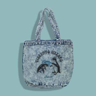 Penguin Denim Tote Bag