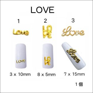 ネイルパーツ メタル LOVE<br />◆<font color=red>期間限定!15%off!</font>