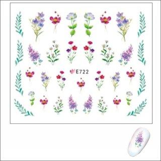 ネイルシール 花(フラワー)E722<br /><font color=red>40%OFF </font>