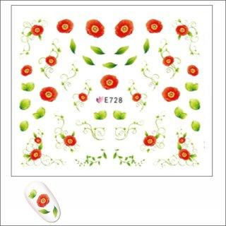 ネイルシール 花(フラワー)E728<br /><font color=red>40%OFF </font>