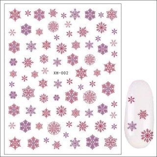月間セール<br />ネイルシール 冬 雪の結晶XH-002(7)<br /><font color=red>60%OFF </font>