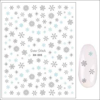月間セール<br />ネイルシール 冬 雪の結晶XH-005(7)<br /><font color=red>60%OFF </font>
