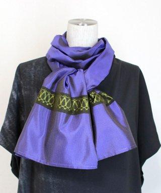 大島紬創作織りストール(紫)