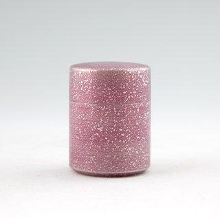 錫 茶筒 吹雪 イブシ加工 紫 90g 商品番号:14-9/名入れ・マーク入れ 可